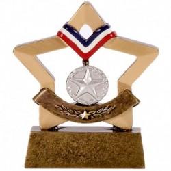 Mini Star Medal Silver