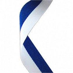Medal Ribbon Blue & White