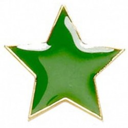 Badge20 Flat Star Green