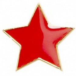 Badge20 Flat Star Red
