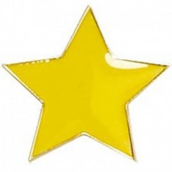 Badge20 Flat Star Yellow
