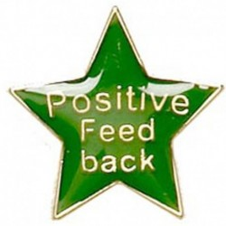 Badge20 Positive Feedback Green