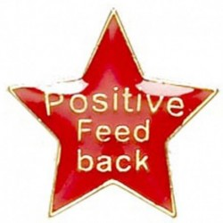 Badge20 Positive Feedback Red