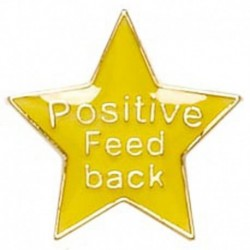 Badge20 Positive Feedback Yellow