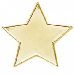 Badge20 Flat Star Gold