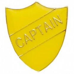 ShieldBadge Captain Yellow