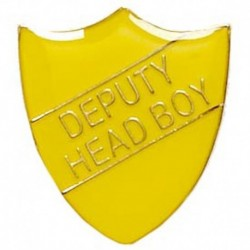 ShieldBadge Deputy Head Boy Yellow