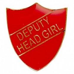 ShieldBadge Deputy Head Girl Red