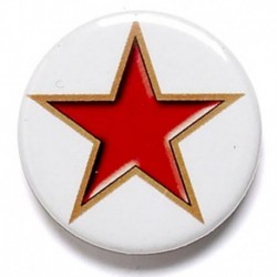 Red Star Button Badge