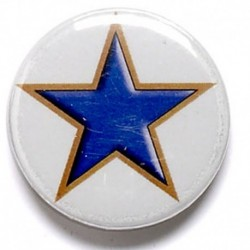 Blue Star Button Badge