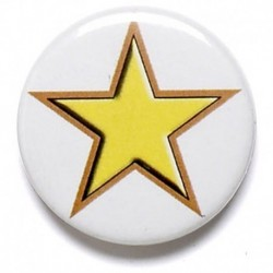 Yellow Star Button Badge