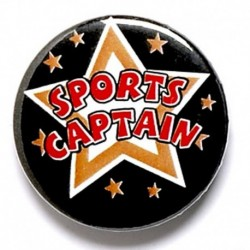 Sports Captain Button Badge
