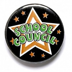 School Council Button Badge
