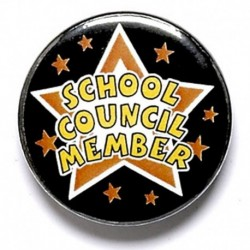 School Council Member Button Badge