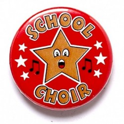 School Choir Button Badge