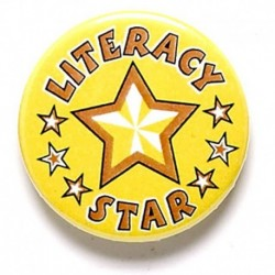 Literacy Star Button Badge