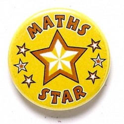 Maths Star Button Badge