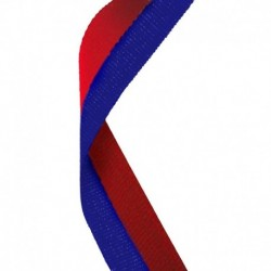Medal Ribbon Red & Blue