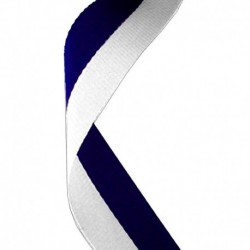 Medal Ribbon Navy Blue & White