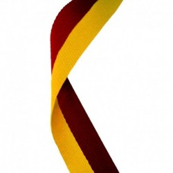 Medal Ribbon Maroon & Gold
