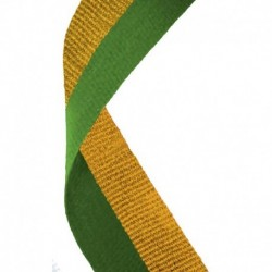 Medal Ribbon Green & Gold