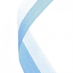 Medal Ribbon Light Blue & White