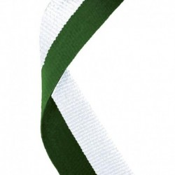 Medal Ribbon Hunter Green & White
