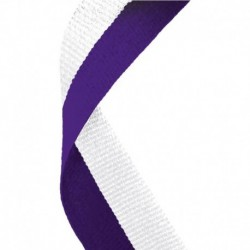 Medal Ribbon Purple & White