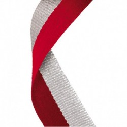 Medal Ribbon Red & Grey