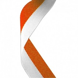 Medal Ribbon Orange & White