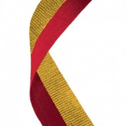 Medal Ribbon Red & Gold