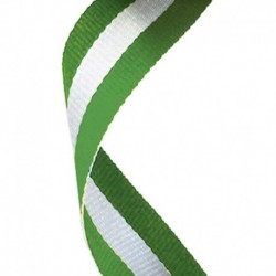Medal Ribbon Green White & Green