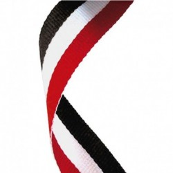 Medal Ribbon Red White & Black
