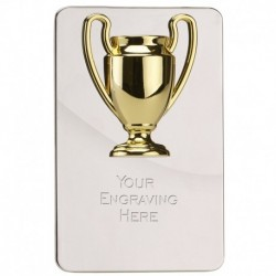 Gold Cup Metal Plaque