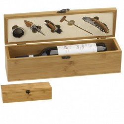 Bamboo Finish Single Wine Set