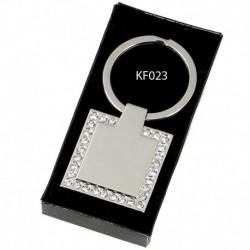 Crown- Diamond Square Key Ring