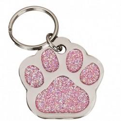Glitter Pink Paw 35mm
