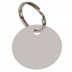 Round Silver Anodised Alum Tag