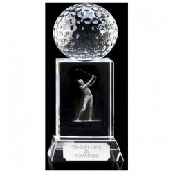 Mercury Golfer Optical Crystal