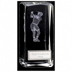 Clarity Female Golfer Crystal Block